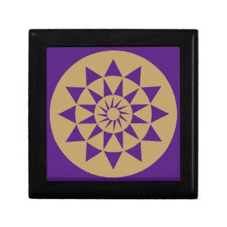 Gold & Purple Geometric Pattern small gift Box