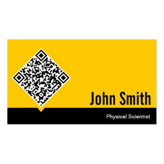 Gold QR Code Physical Scientist Business Card