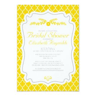 Gold Quatrefoil Bridal Shower Invitations