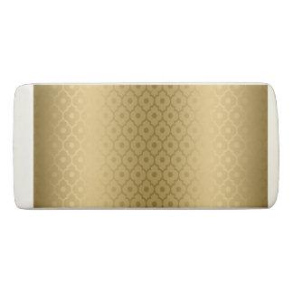 Gold Quatrefoil On Gold Background Eraser