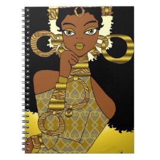 Gold Queen Notebook