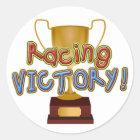 Gold Racing Trophy Sticker