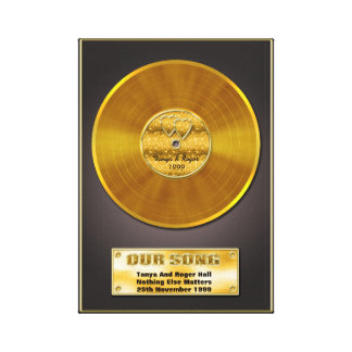 Gold Record Special Date Memory Gift Canvas Prints