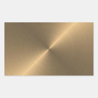 Gold Rectangular Sticker