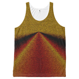 Gold, Red, Black Printed Unisex Tank All-Over Print Tank Top