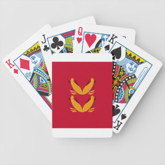Gold  red design Ornaments Bicycle Playing Cards