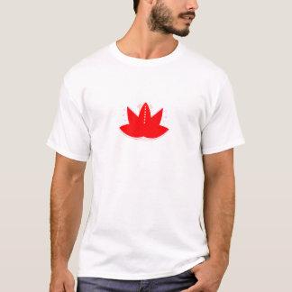 GOLD RED LOTUS HANDDRAWN ORNAMENTS T-Shirt