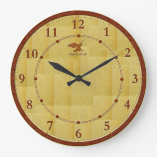 Gold Red Wood Modern Decorated Wall Clock Sale