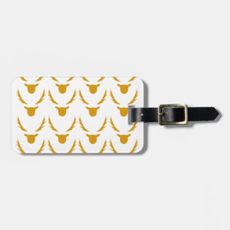 GOLD Reindeers on white Luggage Tag