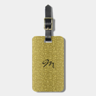 Gold Retro Glitter And Sparkles Luggage Tag