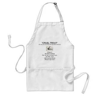 """""""Gold Ribbed Hare's Ear-Cruel Trout""""  Apron"""