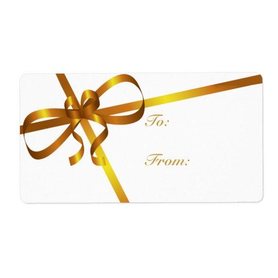 Gold Ribbon Gift Tags