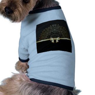 Gold,ribbon,lace,black,elegant,template,customise Dog T Shirt
