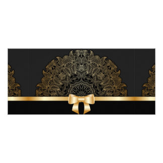 Gold,ribbon,lace,black,elegant,template,customise Rack Card Design