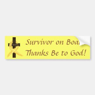 Gold Ribbon Survivor on Board bumper sticker