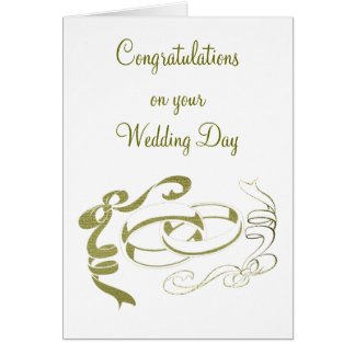 Gold Rings and Bows Art Greeting Card