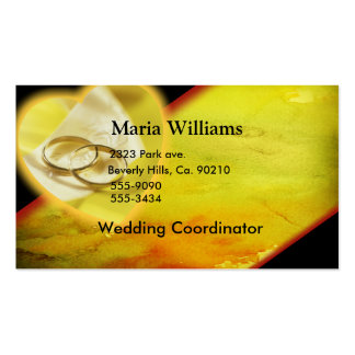 Gold Rings Glow Set Business Card Template