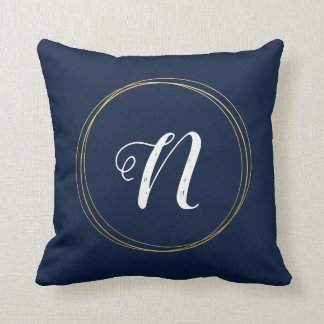 Gold Rings Initials Cushion