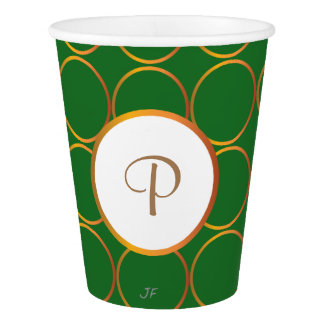Gold rings paper cup
