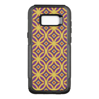 Gold Rings Pattern With Royal Purple Red Blue OtterBox Commuter Samsung Galaxy S8+ Case