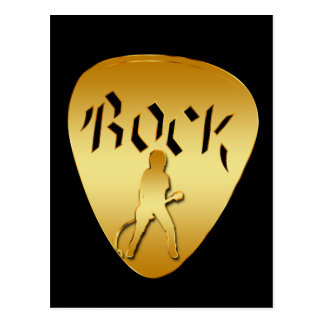GOLD ROCK GUITAR PICK POSTCARD