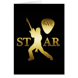 GOLD ROCK STAR CARD