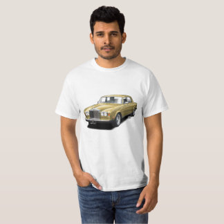 Gold Rolling Royal classic car t-shirt