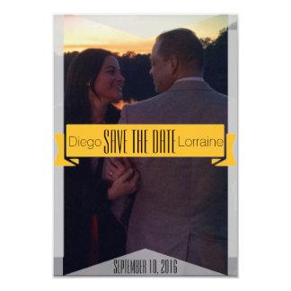Gold Romantic Save The Date Invitation