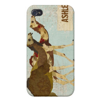 Gold & Rose Camels i iPhone 4 Cover