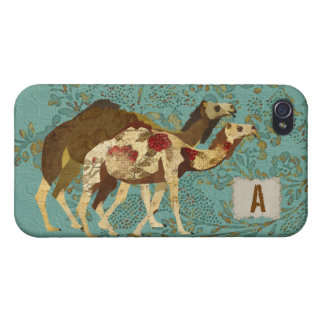 Gold & Rose Camels iPhone Case iPhone 4 Cover