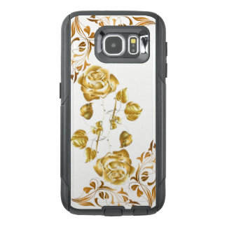 Gold Rose & Design Cell Phone Case