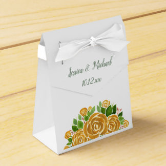 Gold Rose Favor Box
