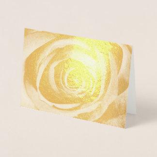 Gold Rose Flower Floral Decorative Vintage Foil Card