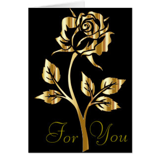 Gold Rose for You card