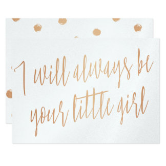 "Gold Rose ""I will always be your little girl"" Card"