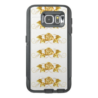 Gold Rose Vine Cell Phone Case