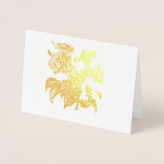 Gold Roses Card