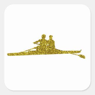 Gold Rudern Sticker