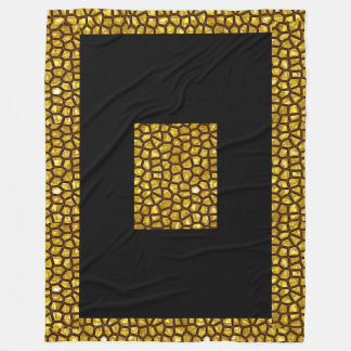 Gold Rush  Fleece Blanket, Large