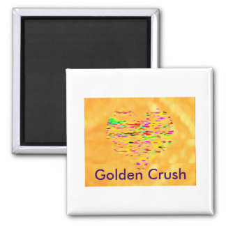 Gold RUSH - Golden CRUSH Refrigerator Magnets