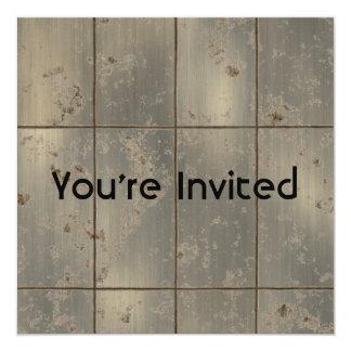 Gold Rust 5.25x5.25 Square Paper Invitation Card