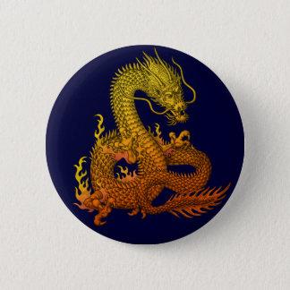 Gold ryuu 6 cm round badge