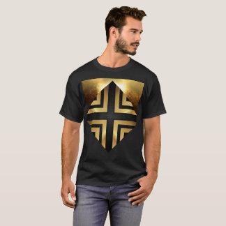 gold sacred protection 3 2 black Lyons design j235 T-Shirt