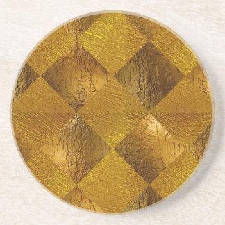 Gold Sandstone Drink Coaster