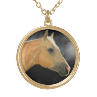 Gold Satin Charm Necklace
