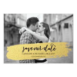GOLD | SAVE THE DATE 13 CM X 18 CM INVITATION CARD