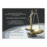 Gold Scale of Justice, Law School Graduation Invit 13 Cm X 18 Cm Invitation Card