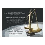 Gold Scale of Justice, Law School Graduation Invit Personalized Invitation