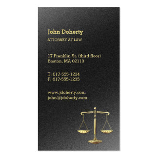 Gold Scales of Justice | Attorney at Law Pack Of Standard Business Cards