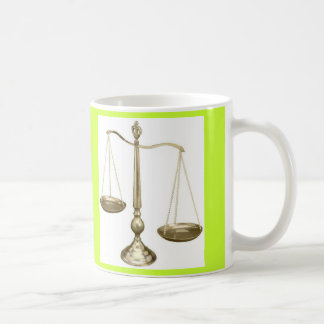 gold scales of justice coffee mugs